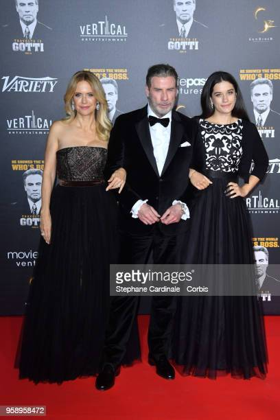 Kelly Preston John Travolta and Ella Bleu Travolta attend a party in Honour of John Travolta's receipt of the Inaugural Variety Cinema Icon Award...