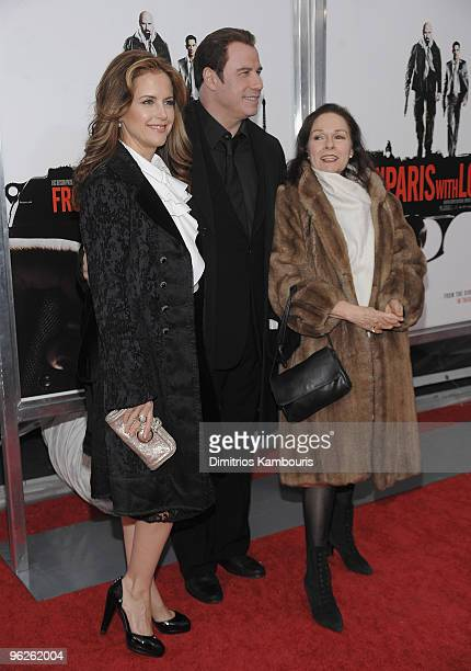Kelly Preston John Travolta and Karen Lynn Gorney attend the From Paris With Love premiere at the Ziegfeld Theatre on January 28 2010 in New York City