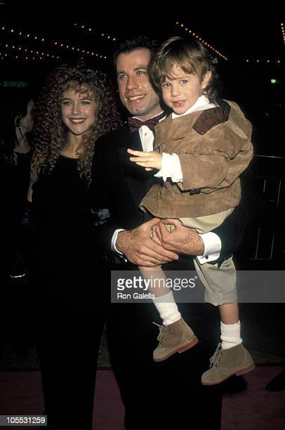 Kelly Preston John Travolta and Lorne Sussman during Look Who's Talking Too Los Angeles Premiere at The Plitt Theatre in Century City California...