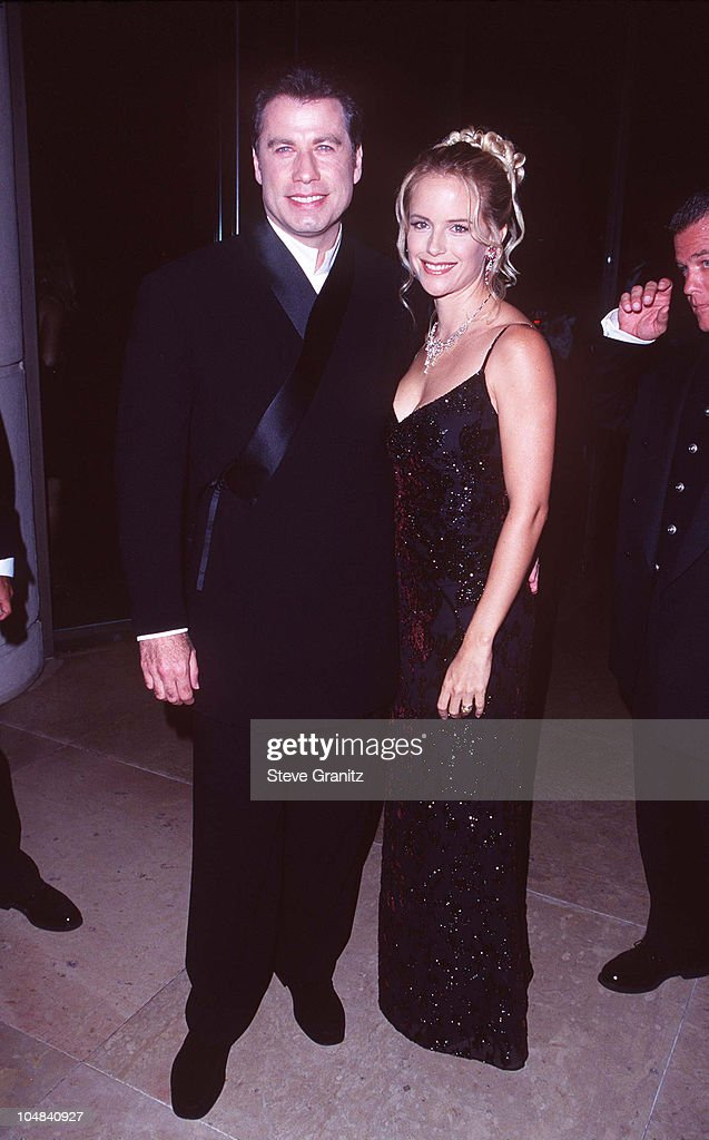 Kelly Preston & John Travolta during The 12th Annual Moving Picture Ball American Cinematheque Award Honoring John Travolta at Beverly Hilton Hotel in Beverly Hills, California, United States.