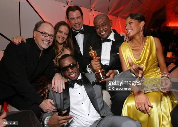 Kelly Preston John Travolta Forest Whitaker winner Best Actor in a Leading Role for The Last King of Scotland Keisha Whitaker Sean Diddy Combs and...