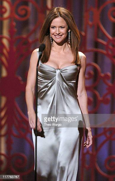 Kelly Preston presenter attends 'Moving Image Salutes John Travolta' at the Waldorf Astoria Hotel in New York City on Sunday November 5 2004