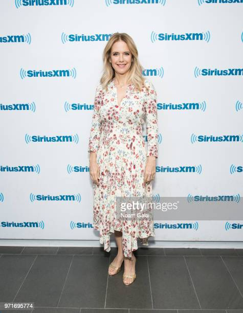 Kelly Preston visits the SiriusXM Studios on June 11 2018 in New York City