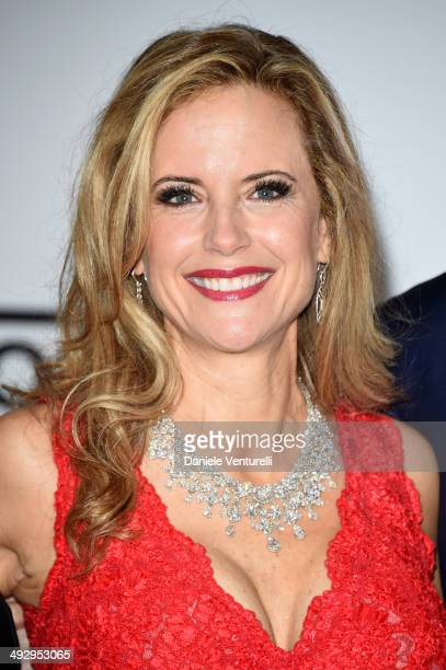 Kelly Preston wearing BVLGARI attends amfAR's 21st Cinema Against AIDS Gala Presented By WORLDVIEW BOLD FILMS And BVLGARI at Hotel du CapEdenRoc on...