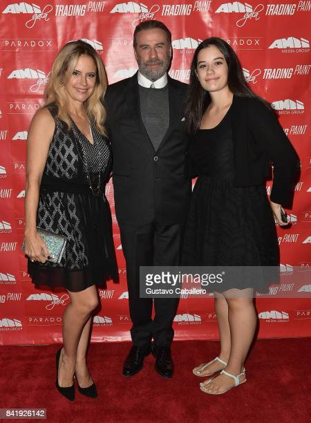 "Kelly Preston,John Travolta and daughter Ella Bleu Travolta attend the Ambi Gala In Honor of the Movie ""Trading Paint"" on September 1, 2017 at an..."