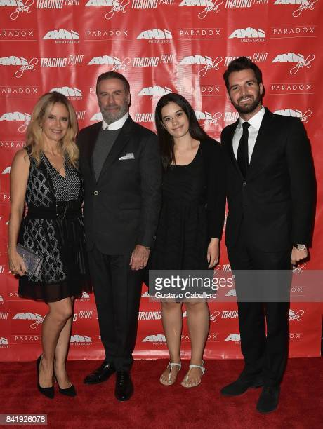 Kelly PrestonJohn TravoltaElla Bleu Travolta and Andrea Iervolino attend the Ambi Gala In Honor of the Movie Trading Paint on September 1 2017 at an...