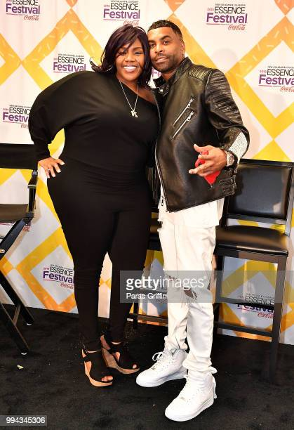 Kelly Price and Ginuwine attends the 2018 Essence Festival Day 3 at Louisiana Superdome on July 7 2018 in New Orleans Louisiana