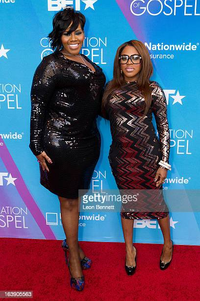 Kelly Price and LiL Mo arrives at the BET Network's 13th Annual 'Celebration of Gospel' at Orpheum Theatre on March 16 2013 in Los Angeles California