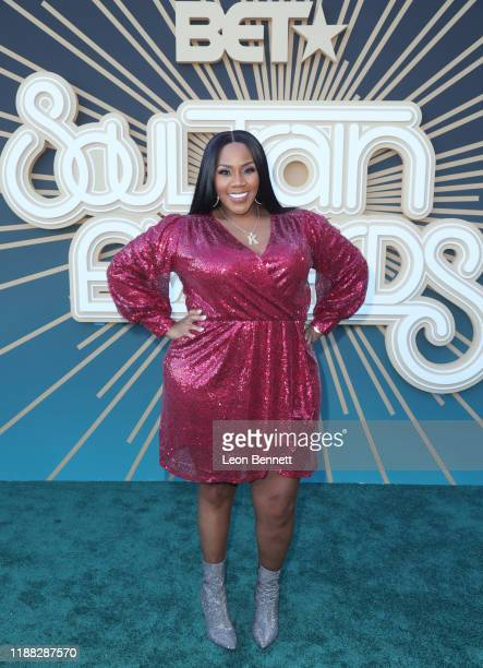 Kelly Price attends the 2019 Soul Train Awards presented by BET at the Orleans Arena on November 17 2019 in Las Vegas Nevada
