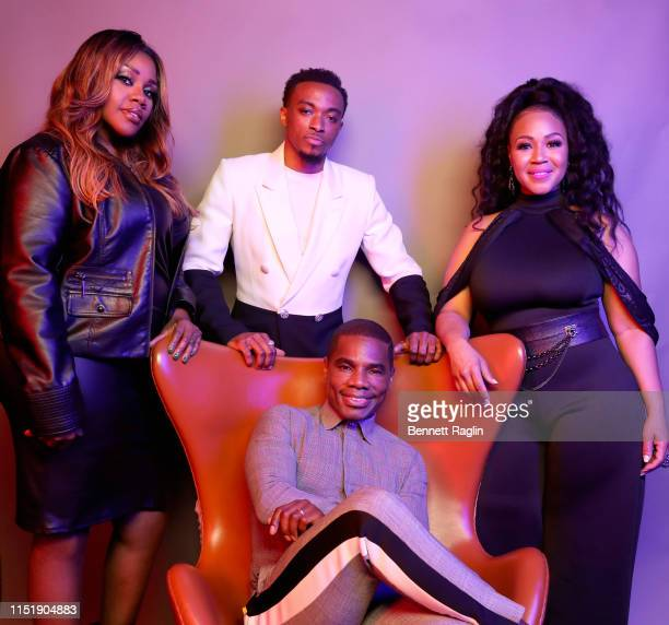 Kelly Price Jonathan McReynolds Kirk Franklin and Erica Campbell pose for a portrait during the BET Awards 2019 at Microsoft Theater on June 23 2019...