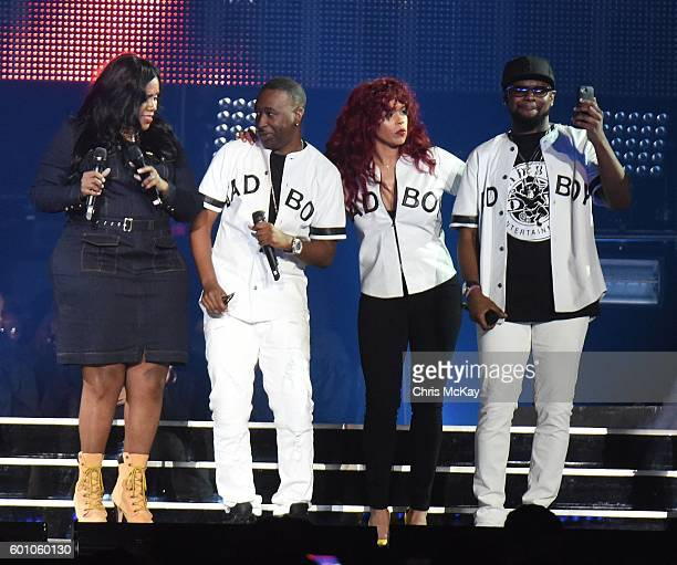 Kelly Price Slim of 112 Faith Evans and Carl Thomas perform at Philips Arena on September 8 2016 in Atlanta Georgia