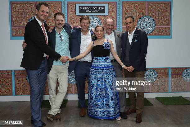 Kelly Quirk, Robert Tekavec, Scott Robertson, Marisol Deluna, Doug Marron and Jonathan Cole pose after the Marisol Deluna New York Fashion Week...