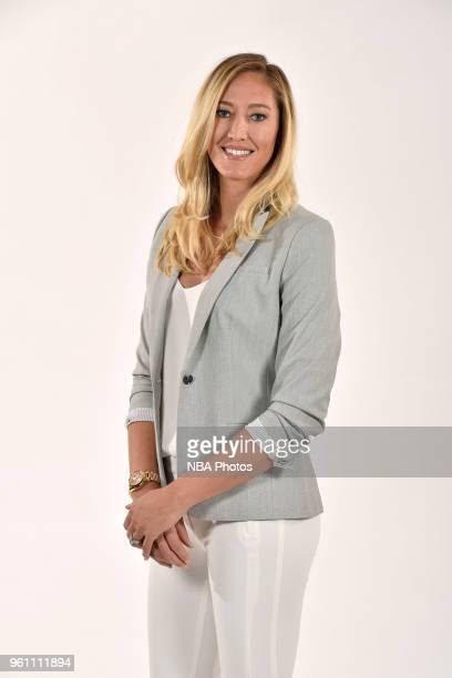 Kelly Raimon of the Las Vegas Aces poses for a head shot at WNBA Media Day at MGM Grand Garden Arena on May 3 2018 in Las Vegas Nevada NOTE TO USER...