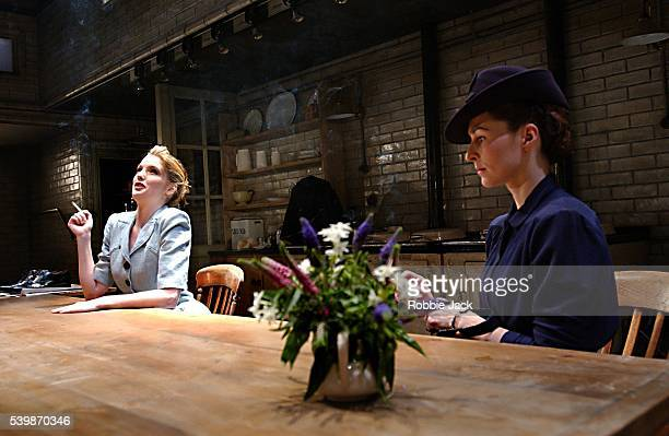 """Kelly Reilly and Helen Baxendale in the production """"After Miss Julie"""" at the Donmar Warehouse London. Robbie Jack/Corbis"""