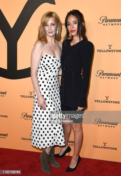 Kelly Reilly and Kelsey Chow attend Paramount Network's Yellowstone Season 2 Premiere Party at Lombardi House on May 30 2019 in Los Angeles California