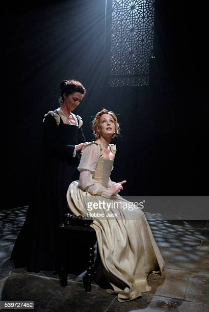 """""""Kelly Reilly and Michelle Fairley in the production """"Othello"""" at the Donmar Warehouse ,London. Copyright Robbie Jack. """""""