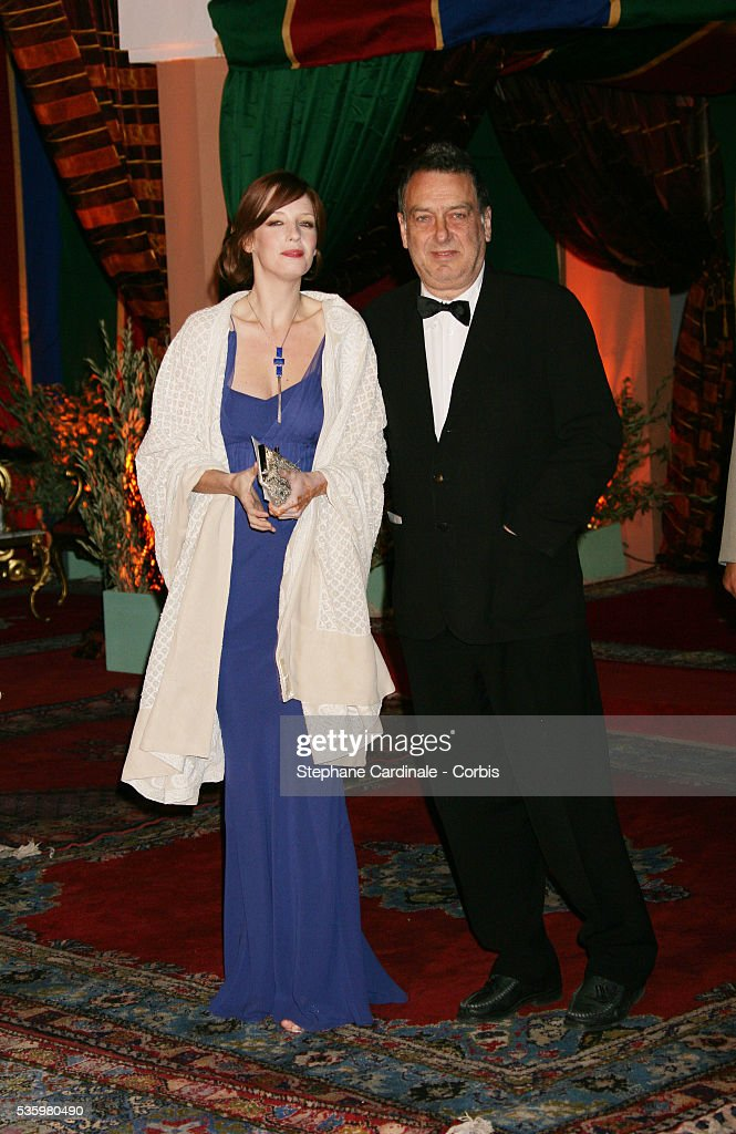 Kelly Reilly and Stephen Frears arrive at the opening dinner of the 2005 Marrakech Film Festival.