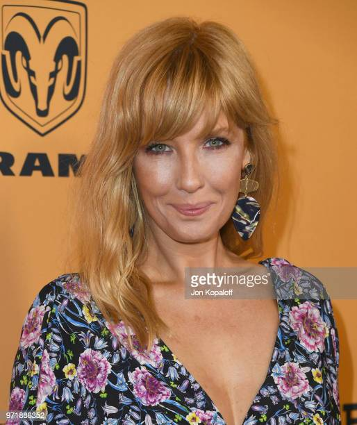 "Kelly Reilly attends the premiere of Paramount Pictures' ""Yellowstone"" at Paramount Studios on June 11, 2018 in Hollywood, California."