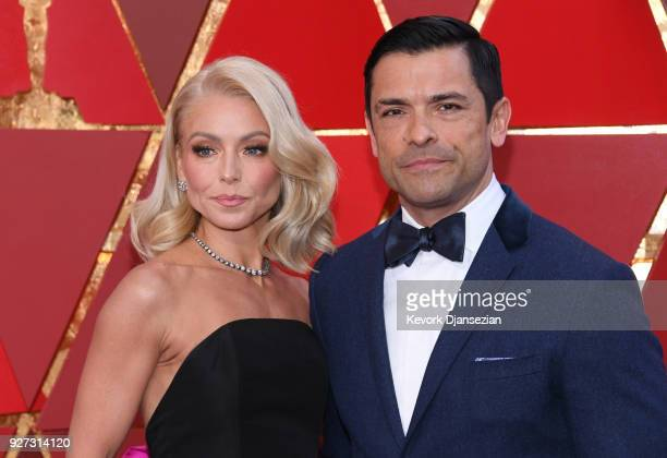 Kelly Rip and Mark Consuelos attend the 90th Annual Academy Awards at Hollywood Highland Center on March 4 2018 in Hollywood California