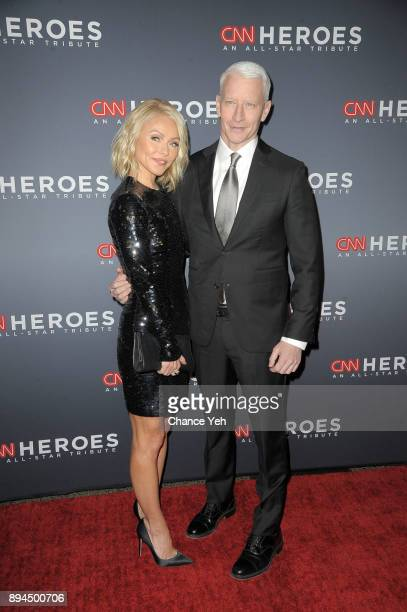 Kelly Ripa and Anderson Cooper attend 11th Annual CNN Heroes An AllStar Tribute at American Museum of Natural History on December 17 2017 in New York...
