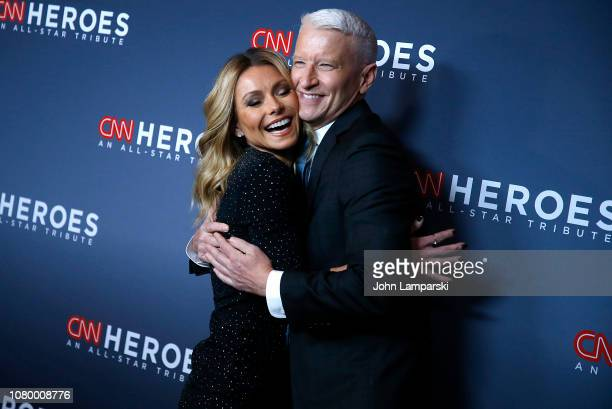 Kelly Ripa and Anderson Cooper attend 12th Annual CNN Heroes An AllStar Tribute at American Museum of Natural History on December 09 2018 in New York...