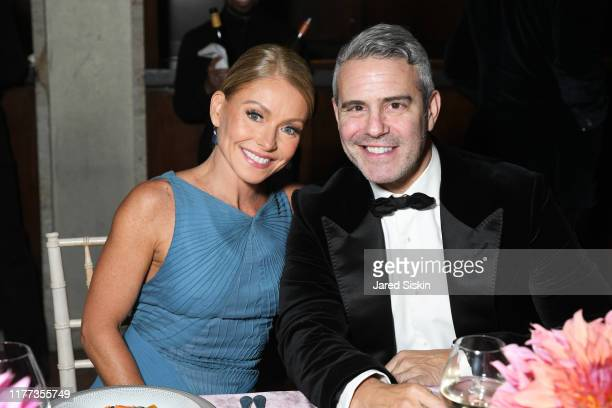 Kelly Ripa and Andy Cohen attend the New York City Ballet 2019 Fall Fashion Gala at David H Koch Theatre at Lincoln Center on September 26 2019 in...