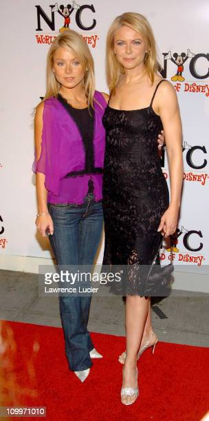 Kelly Ripa and Faith Ford during Grand Opening of The World of Disney Flagship Store Arrivals at Disney Store Fifth Avenue in New York City New York...