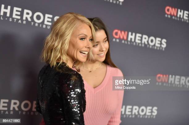 Kelly Ripa and Lola Consuelos attend CNN Heroes 2017 at the American Museum of Natural History on December 17 2017 in New York City 27437_016