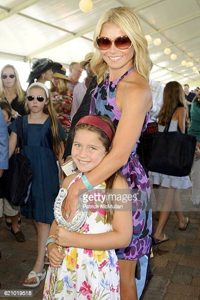 Kelly Ripa and Lola Consuelos attend SYBIL and DAVID YURMAN Host A Luncheon For GRAND PRIX SUNDAY at THE HAMPTON CLASSIC at Bridgehampton on August...