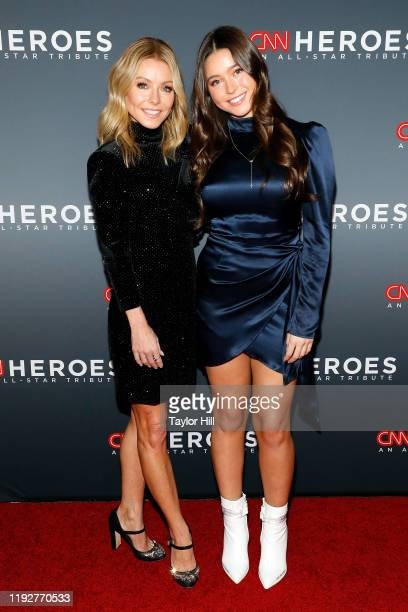 Kelly Ripa and Lola Consuelos attend the 13th Annual CNN Heroes Gala at American Museum of Natural History on December 08, 2019 in New York City.