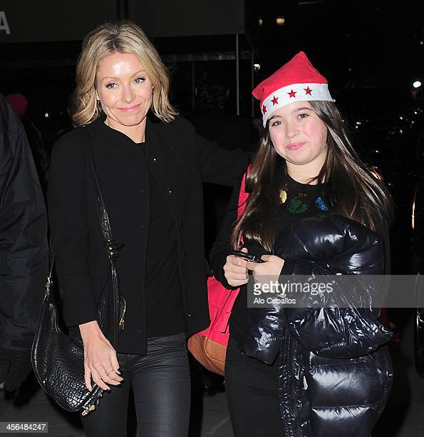 Kelly Ripa and Lola Grace Consuelos are seen on December 13 2013 in New York City