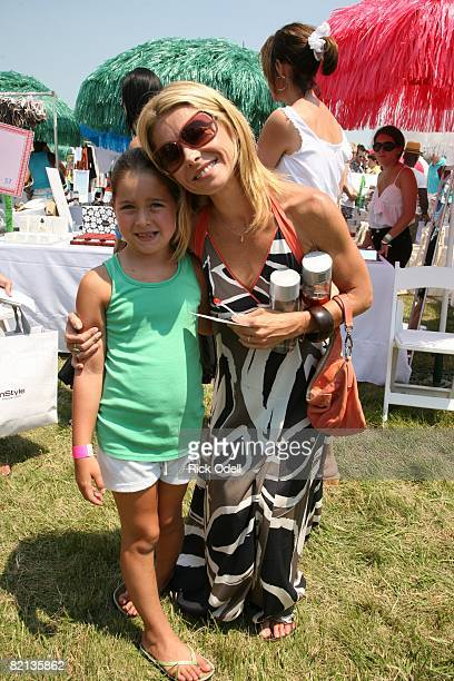 Kelly Ripa and Lola Grace Consuelos attend the Ovarian Cancer Research Fund's Super Saturday 11 benefit hosted by Donna Karan at Nova's Ark Project...