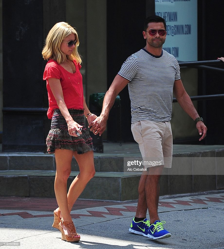 Kelly Ripa And Mark Consuelos Are Seen In Soho On July 8