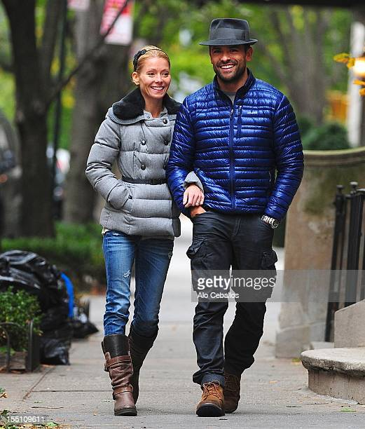 Kelly Ripa and Mark Consuelos are seen Upper East Side at Streets of Manhattan on November 1 2012 in New York City