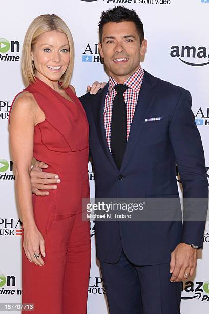 Kelly Ripa and Mark Consuelos attend Amazon Studios Premiere Screening for 'Alpha House' on November 11 2013 in New York City