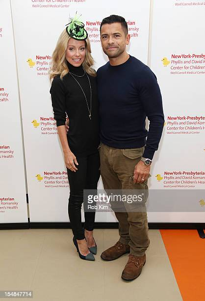 Kelly Ripa and Mark Consuelos attend Light Up A Life Benefit at Chelsea Piers Field House on October 27 2012 in New York City