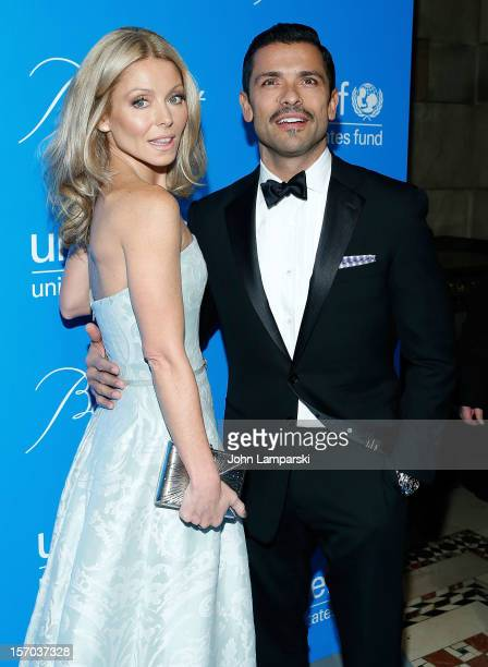 Kelly Ripa and Mark Consuelos attend sUNICEF Snowflake Ball 2012 at Cipriani 42nd Street on November 27 2012 in New York City