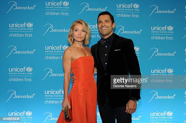 Kelly Ripa and Mark Consuelos attend the 10th Annual Unicef Snowflake Ball at Cipriani Wall Street on December 2 2014 in New York City