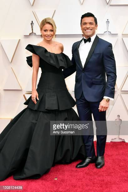 Kelly Ripa and Mark Consuelos attend the 92nd Annual Academy Awards at Hollywood and Highland on February 09 2020 in Hollywood California