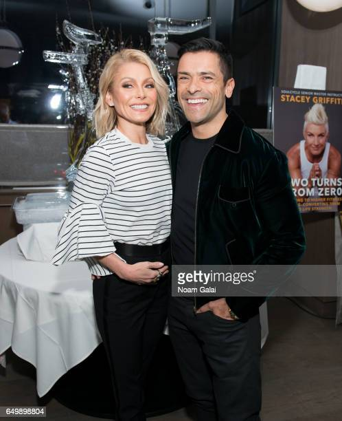 Kelly Ripa and Mark Consuelos attend the Two Turns From Zero book launch event at The Regency Bar and Grill on March 8 2017 in New York City