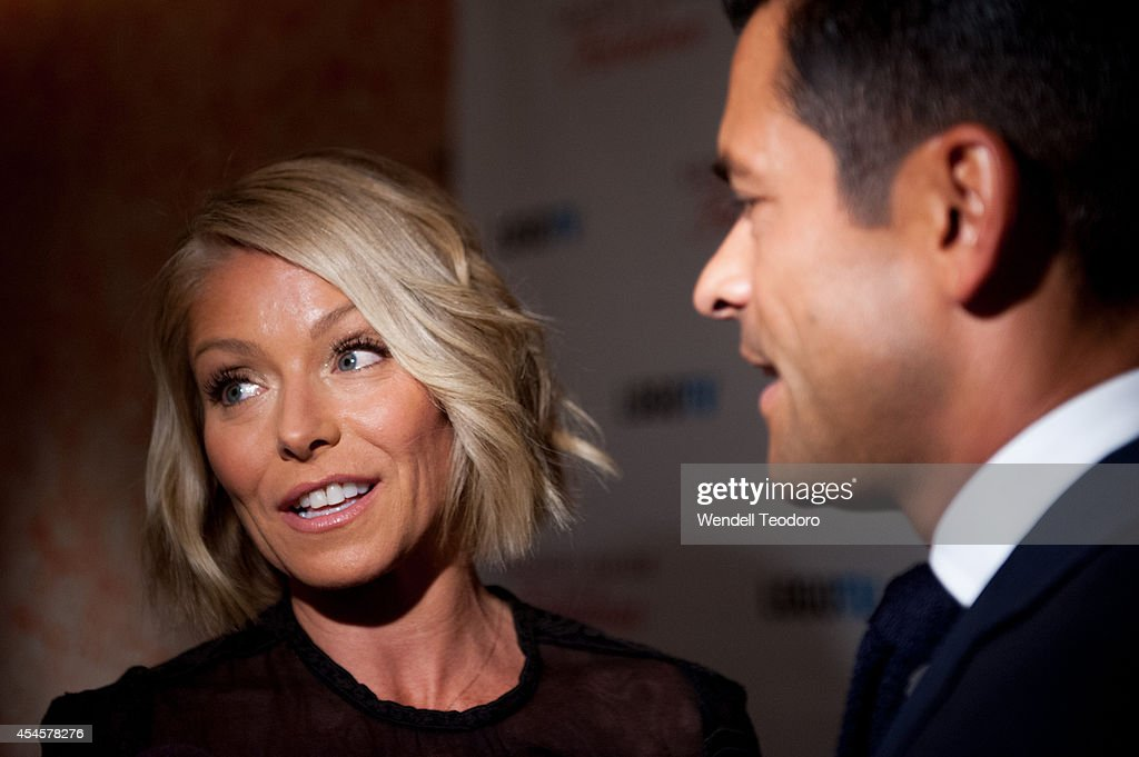 Kelly Ripa and Mark Consuelos attends the 'Secret Guide To Fabulous' Premiere Party at the Crosby Hotel on September 3, 2014 in New York City.