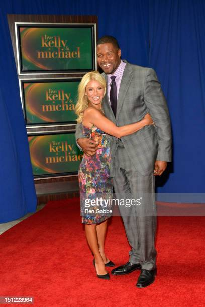 Kelly Ripa and Michael Strahan appear at Lincoln Square on September 4 2012 in New York City