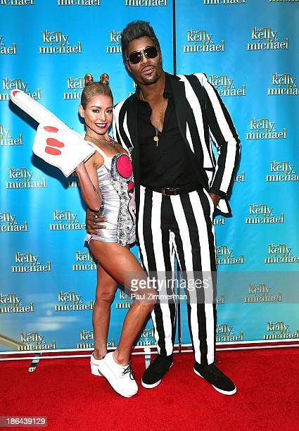 Kelly Ripa and Michael Strahan attend the LIVE with Kelly and Michael Best Halloween Show Ever at Live with Kelly And Michael Studio on October 31...