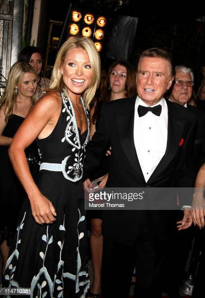Kelly Ripa and Regis Philbin during Regis Philbin and Kelly Ripa Host the Fourth Annual Relly Awards on 'Live with Regis and Kelly' at ABCTV Studios...