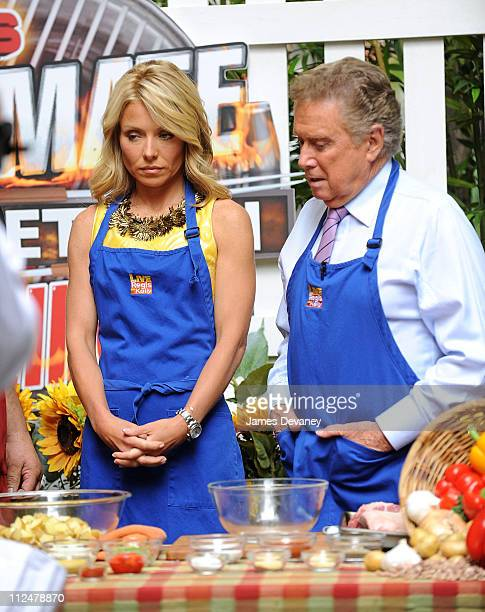 Kelly Ripa and Regis Philbin seen outside the ''Live with Regis Kelly'' show at ABC Studios on June 11 2009 in New York City