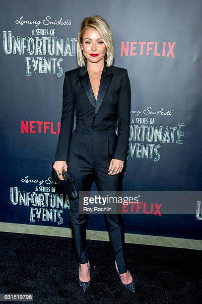 Kelly Ripa attends 'Lemony Snicket's A Series Of Unfortunate Events' New York Screening at AMC Lincoln Square Theater on January 11 2017 in New York...