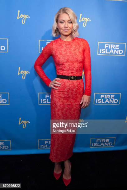 Kelly Ripa attends Logo TV Fire Island Premiere Party at Atlas Social Club on April 20 2017 in New York City