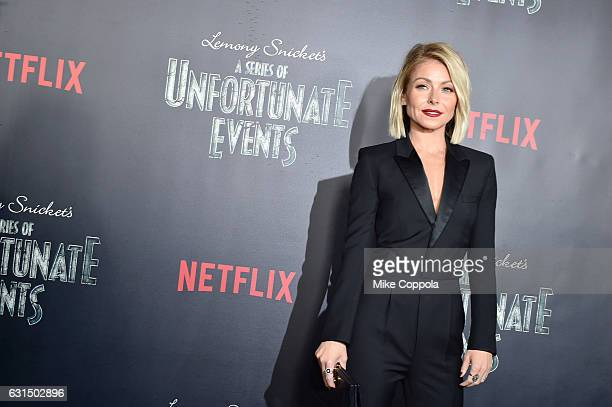 Kelly Ripa attends the Lemony Snicket's A Series Of Unfortunate Events Screening at AMC Lincoln Square Theater on January 11 2017 in New York City