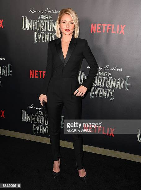 Kelly Ripa attends the premiere of Netflix's 'A Series of Unfortunate Events' at AMC Lincoln Square Theater on January 11 2017 in New York / AFP /...
