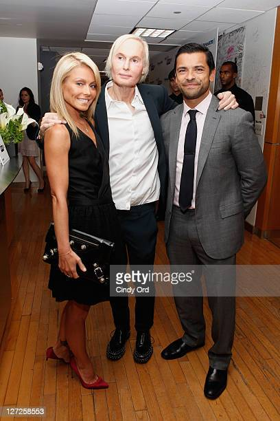Kelly Ripa Dr Frederic Brandt and Mark Consuelos attend Dr Fredric Brandt's SiriusXM launch event at SiriusXM Studio on September 26 2011 in New York...